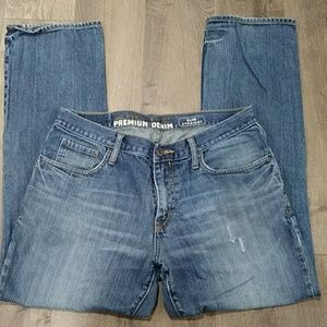 (Old Navy) Slim Striaght distressed Jeans